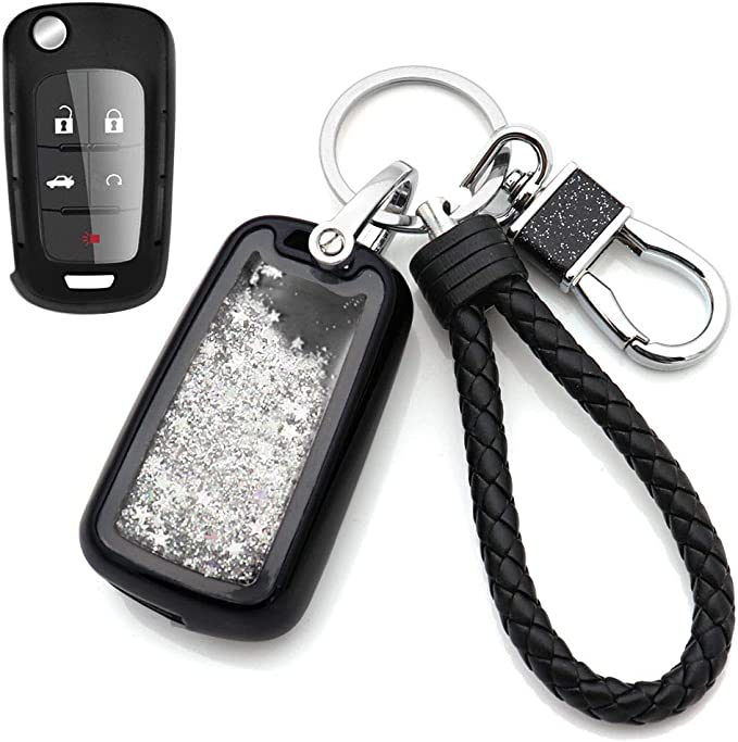 Silver Senauto Full Coverage Protection Quicksand Key Fob Cover Key Chain for Mercedes-Benz A B C E S R M G Class