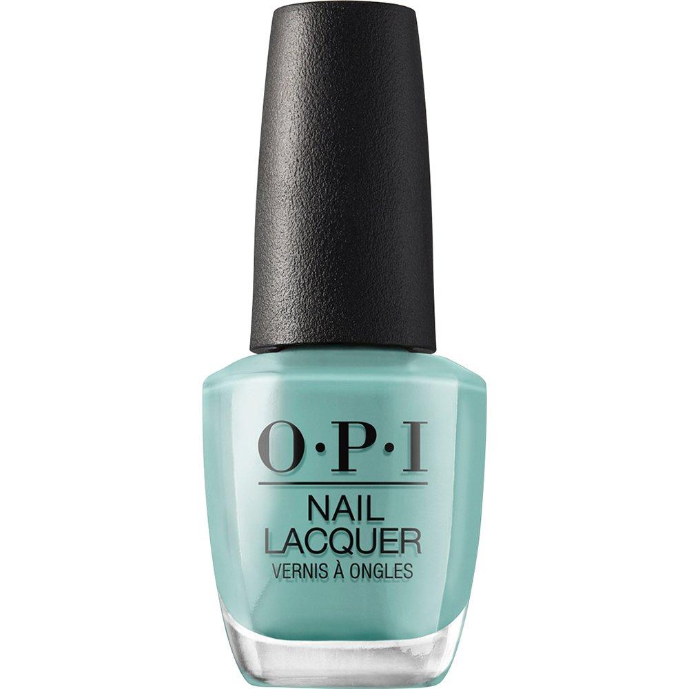 ブルベ夏タイプの女性に似合う色のブルーグリーンのネイルポリッシュの画像