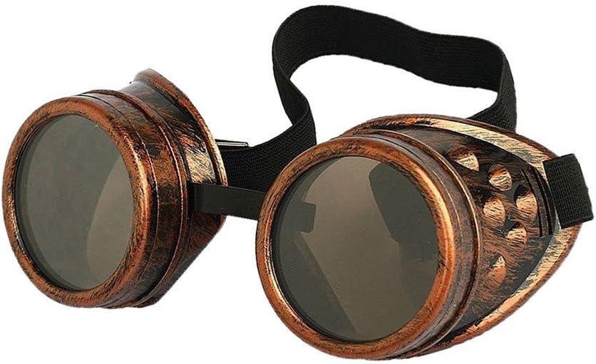 Eoocvt Retro Vintage Steampunk Goggles