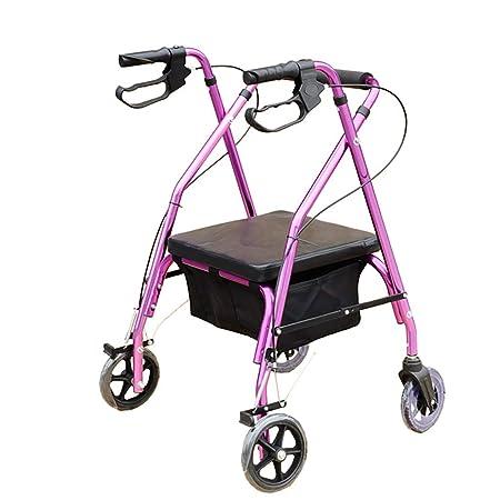 wheelchair Andador con Ruedas de Aluminio con Asiento ...