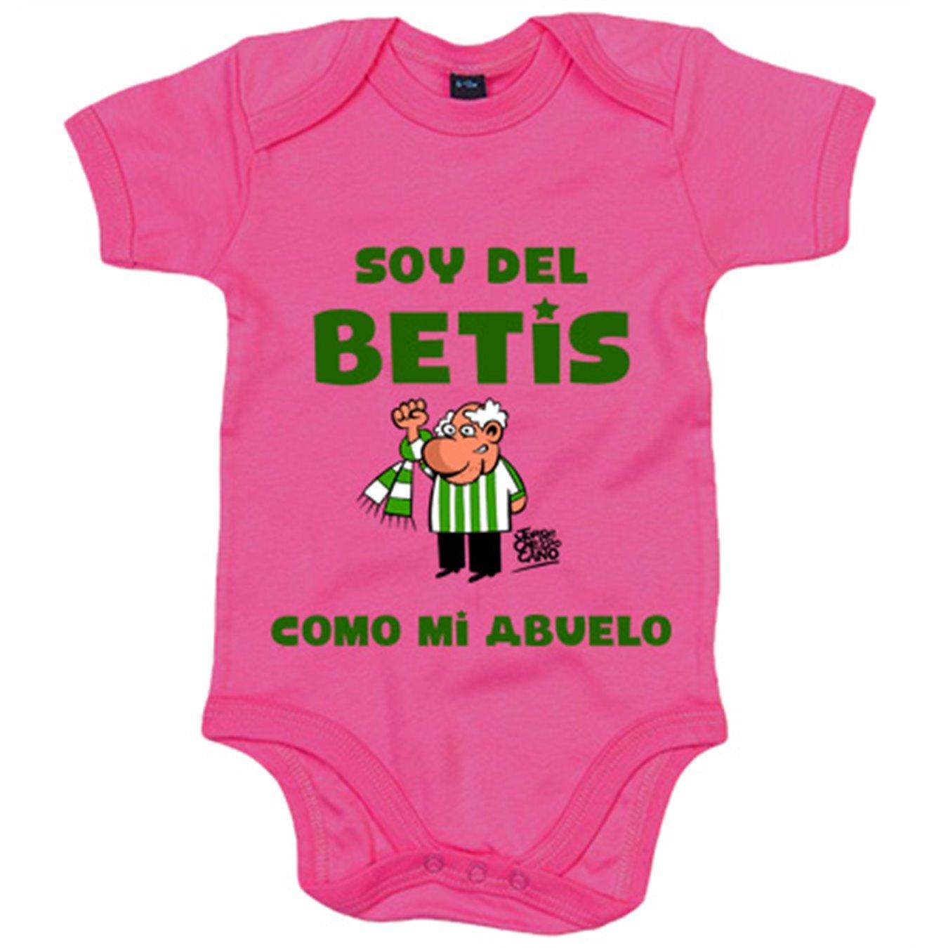 Body bebé Real Betis soy del Betis como mi abuelo - Amarillo ...