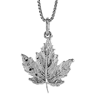 Amazon sterling silver maple leaf pendant 34 inch tall jewelry sterling silver maple leaf pendant 34 inch tall mozeypictures