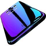 FLOVEME Samsung S8 Custodia Cover PC Clear Gradiente di Colore Affascinante Ultro Sottile Case Posteriore per Samsung S8 Viola