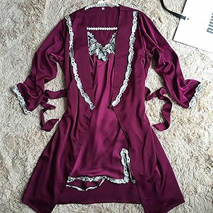 Wanglele Albornoz Bordado Eslinga De La Vestimenta De La Mujer Pijama Batas Vestidos Mangas Largas Batas