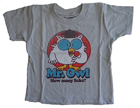 243c9bc4 Amazon.com: Life Clothing Tootsie Pop Mr. Owl How Many Licks Toddler ...