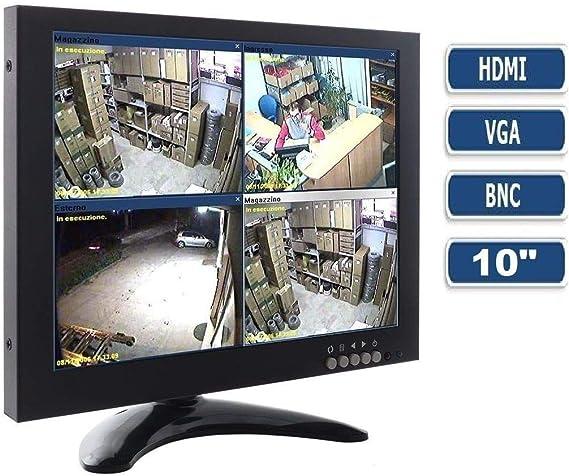 TV Televisor Monitor 10,1 pulgadas colores LCD VGA HDMI BNC Videovigilancia TFT: Amazon.es: Electrónica