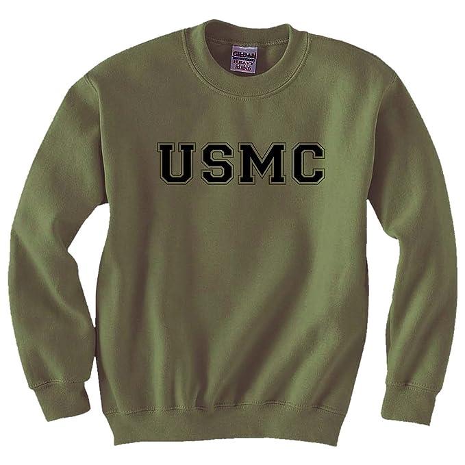 f196994e4 USMC Athletic Marines Military Style Crewneck Sweatshirt in Military Green  - Small