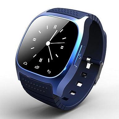 Bluetooth reloj inteligente con micrófono, M26 Inteligente Reloj Compatible con Android y ios- Smart