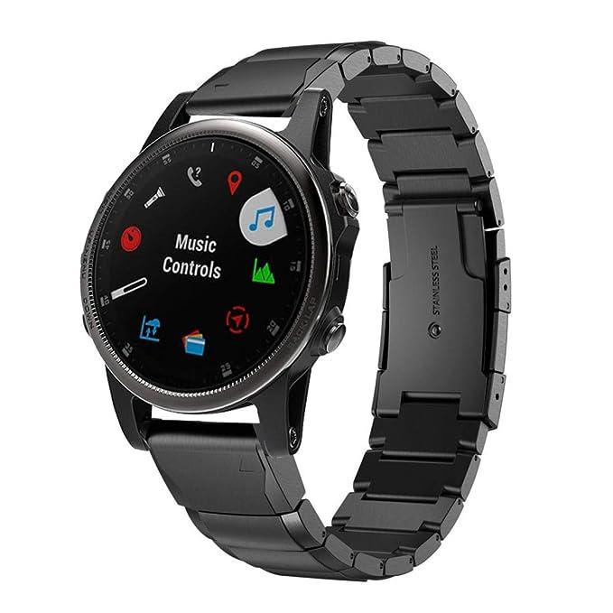 Bestow Garmin Fenix 5S Plus de Acero Inoxidable de Lujo de Liberacišn ršpida Reloj de Pulsera de Ajuste fšcil Wirstband Smart Watch Electronics Gadgets ...