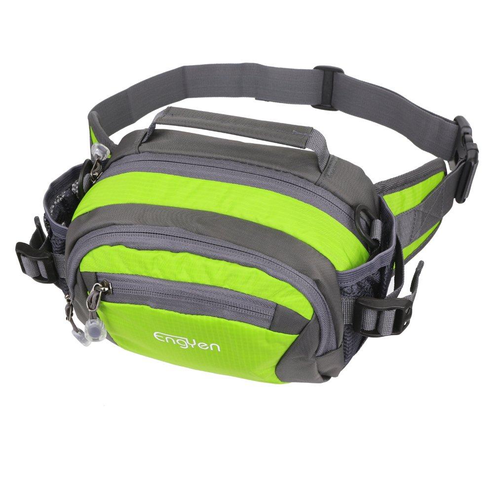 engyenウエストバッグ、ランニングベルト、アウトドアファニーパック水ボトルホルダー、登山、スポーツ、ジョギング、ウォーキング、ハイキングまたはCyclin Carrying Iphone 7 8 Plus X Samsungメンズ/レディース  フルーツグリーン B078J998C6