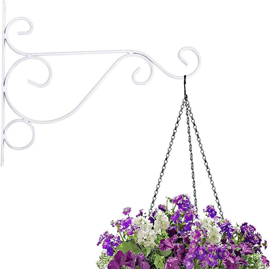 QQDEAL Confezione da 2/Staffa per Cestino pensile Gancio Parete Gancio pianta Fiore Decorazione per Giardino Basket Lanterna Prato Luce Vaso di Fiori