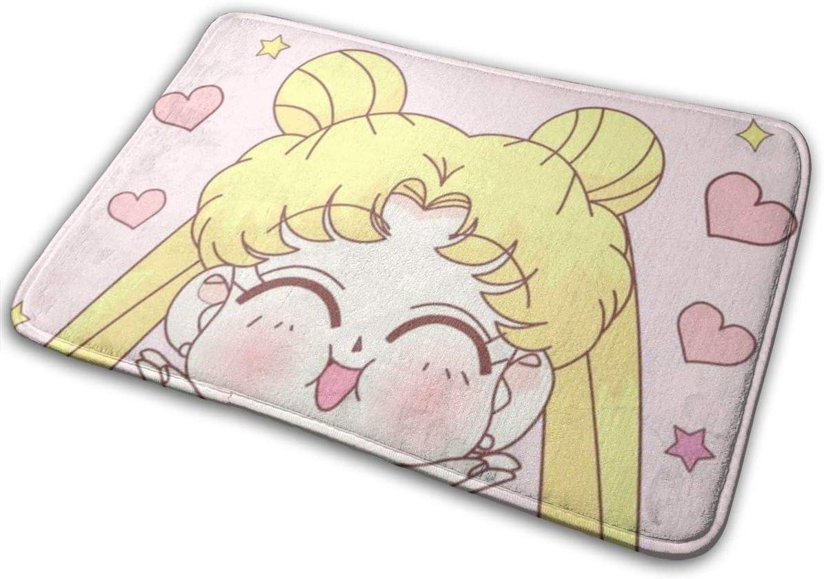 Yang Felpudo de Bienvenida Sailor Moon Smile para Interiores y Exteriores, Alfombra de Entrada, Alfombra de Piso (75 x 45)