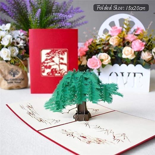 YAOJII Tarjetas emergentes 3D Tarjeta de Flores Aniversario ...