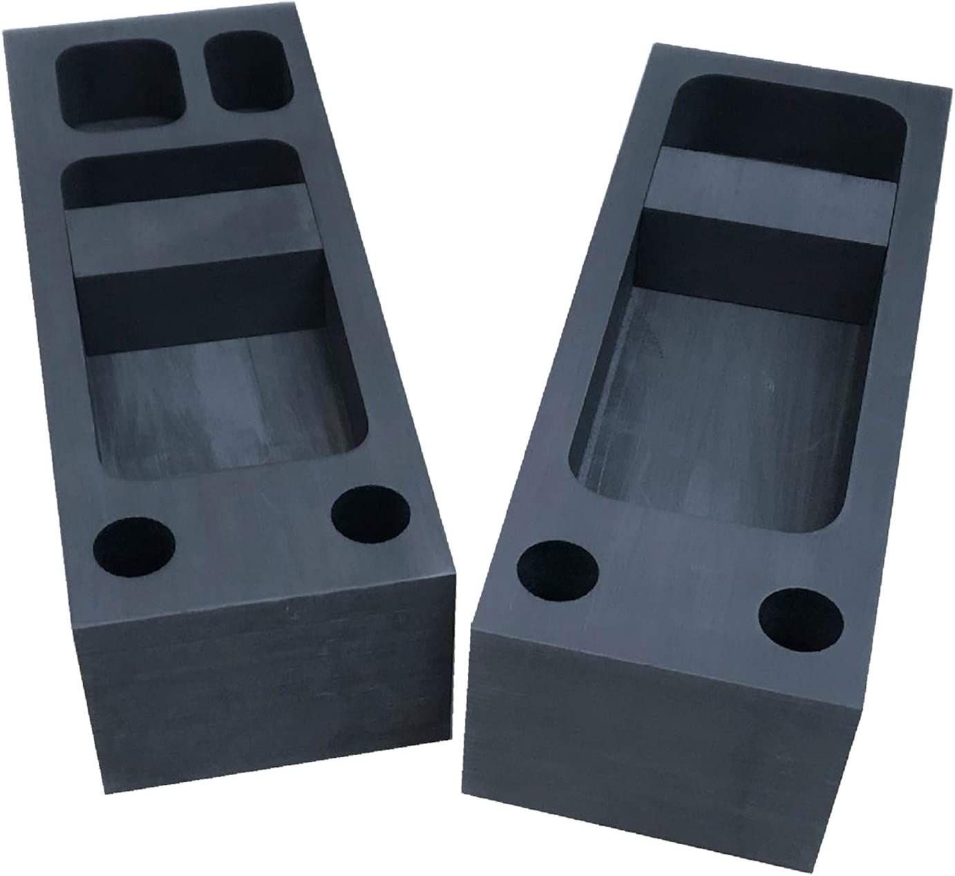 lahomia Set of 2 Ingot Molds Graphite Crucible Set in Cast Iron