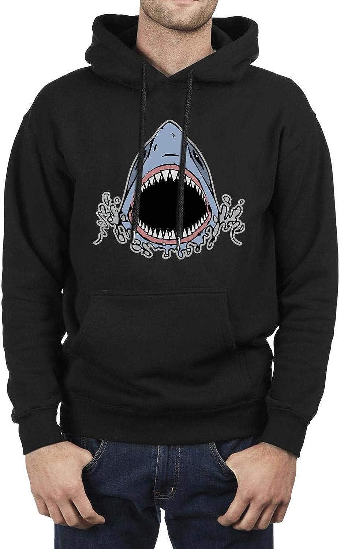 Men's Athletic Fleece Hoodie Amereica Looks Like Shark Ultra Soft Plush Winter Pullover Hooded Sweatshirt Festival Gift