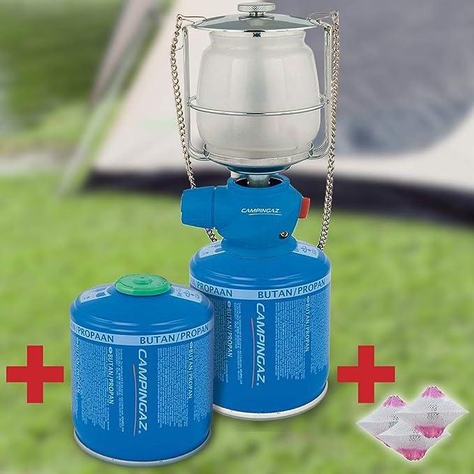 Bricolemar CAMPINGAZ - Kit iluminación Camping Campingaz Kabra (Lampara Lumostar Plus PZ Campingaz + 2 catucho Campingaz CV 300 Plus + Camisa lampara Gas S Campingaz): Amazon.es: Deportes y aire libre