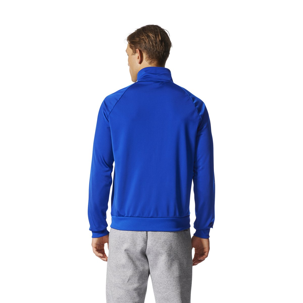 adidas Essentials 3S Tricot Track Jacket Men's All Sports S Collegiate Royal-White by adidas (Image #2)