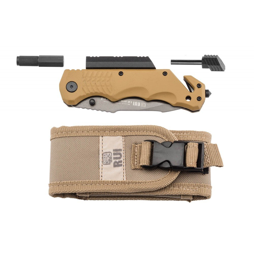 Amazon.com: Tactical Pro plegable knive K25 9,5 cm Coyote ...