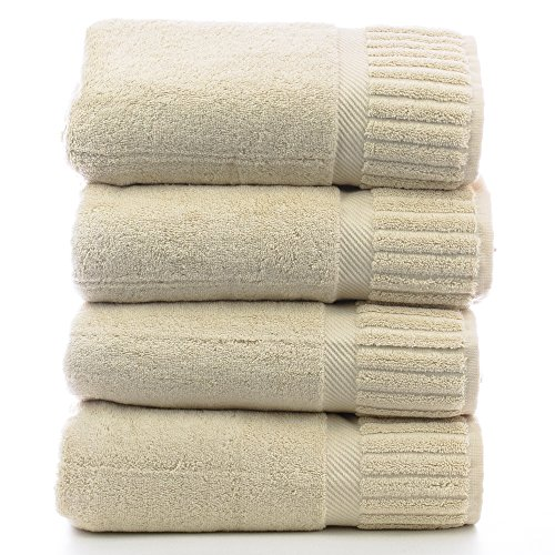 Luxury Hotel & Spa Towel Turkish Cotton Bath Towels - Beige