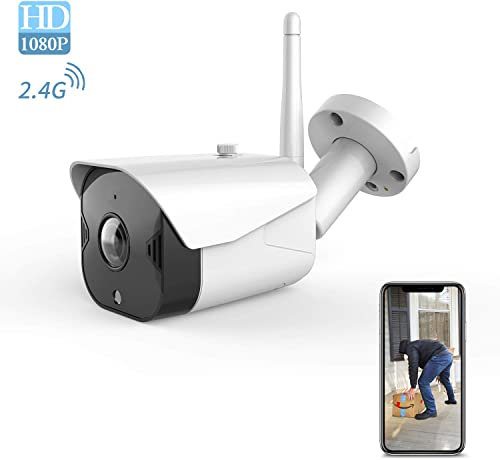 Outdoor Security Camera 1080P Wi-Fi – Bullet Cameras 2-Way Audio Surveillance System Motion Detection Home Night Vision IP Cam All-Weather Coverage with iOS Android APP PC
