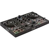 Hercules 4780882DJCONTROL INPULSE 200 USB Ideal para Aprender a Mixer 2Pistas con 8Pads/Tarjeta de Sonido para PC/Mac Negro/Rojo
