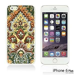 OnlineBestDigital - Flower Pattern Hardback Case for Apple iPhone 6 Plus (5.5 inch) Smartphone - Vintage Floral Print