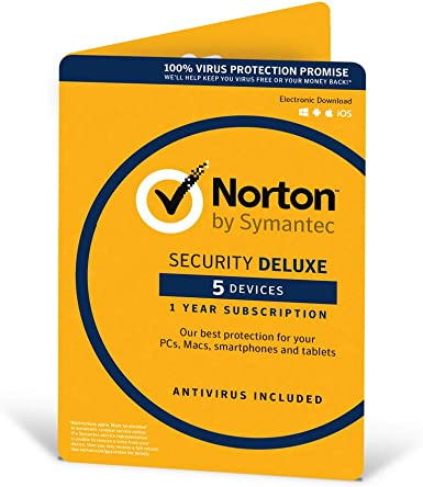 Norton Security Deluxe 2018   5 Devices   1 year   Antivirus included   PC Mac iOS Android   Download: Amazon.es: Software