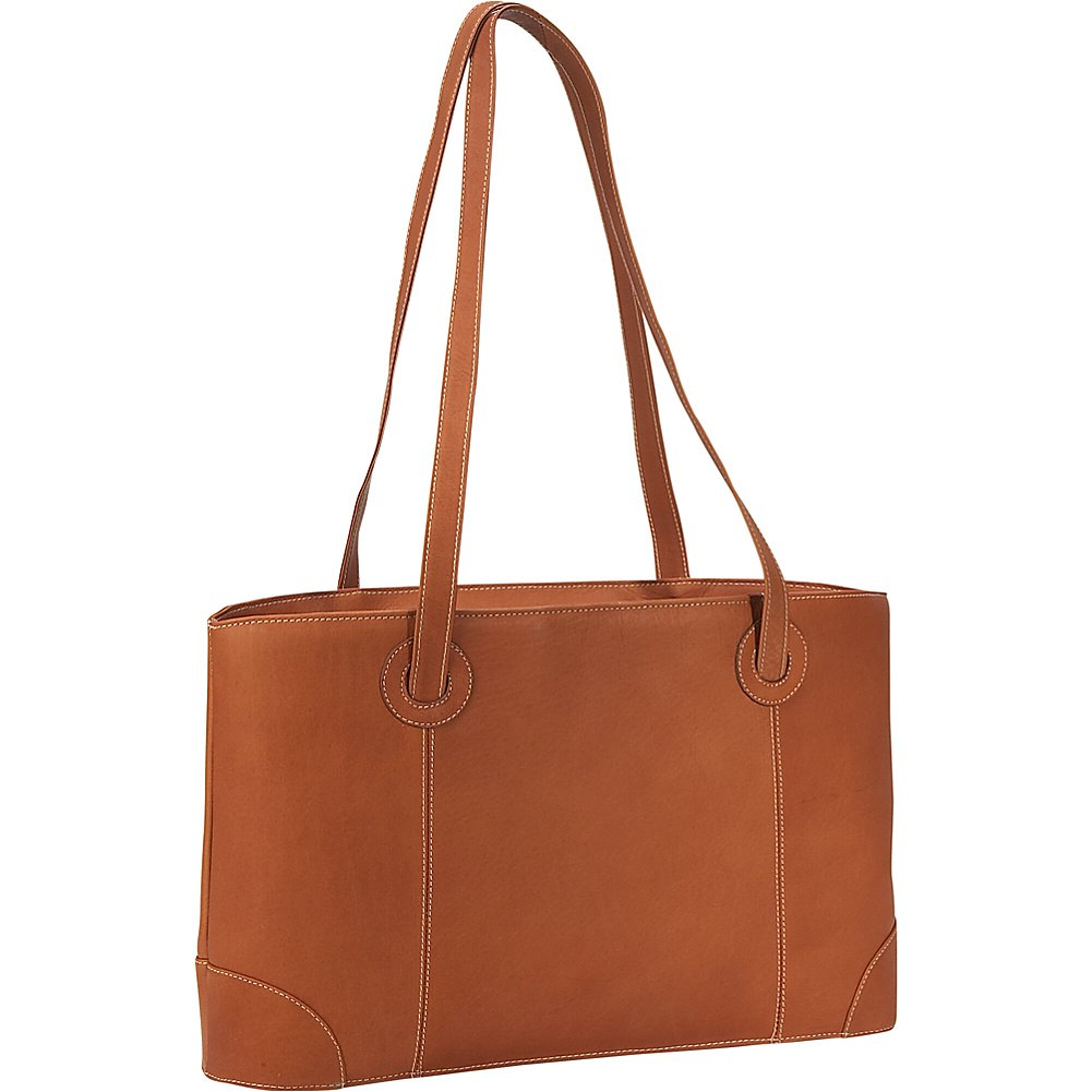 Piel Leather Ladies Computer Tote, Saddle, One Size