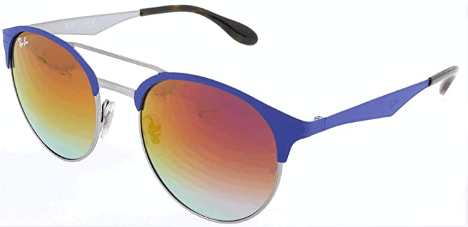 RAY-BAN RB 3545 Gafas de sol, Gunmetal/Matte Blue, 51 Unisex ...