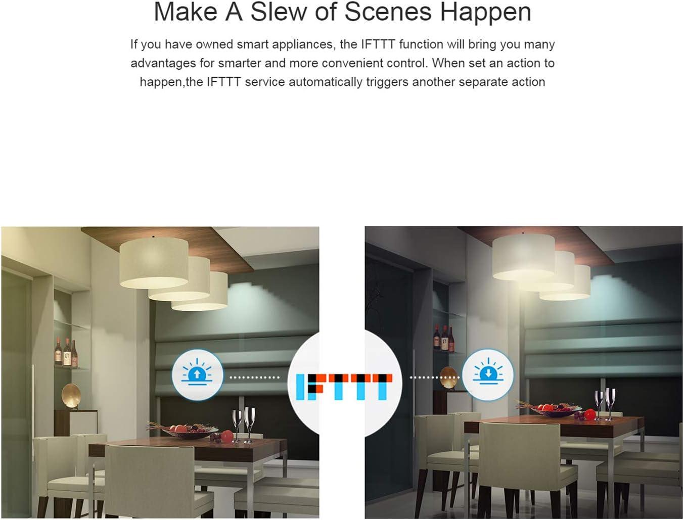 Sono-FF 4CH Pro R2 Smart Switch T/él/écommande Wi-FI Commutateur sans Fil Compatible avec Google Assistant Alexa Bricolage