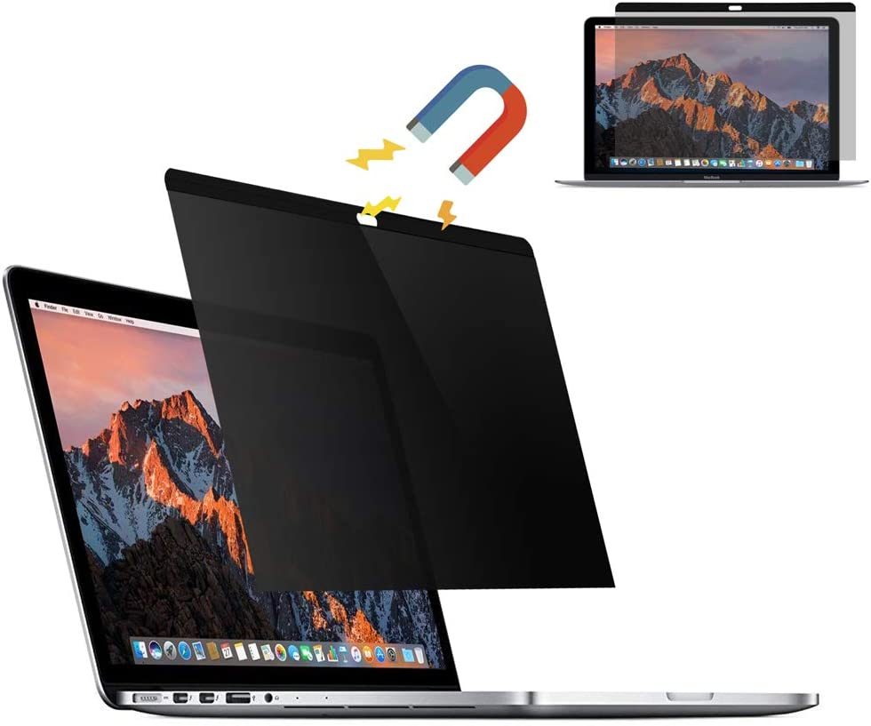 YAKAI 13 inch [Magnetic] Privacy Filter Screen Protector, Anti-spy&Anti-Glare Film Compatible MacBook Pro 13.3'' (2012-2015 Version: A1502/A1425 Models)