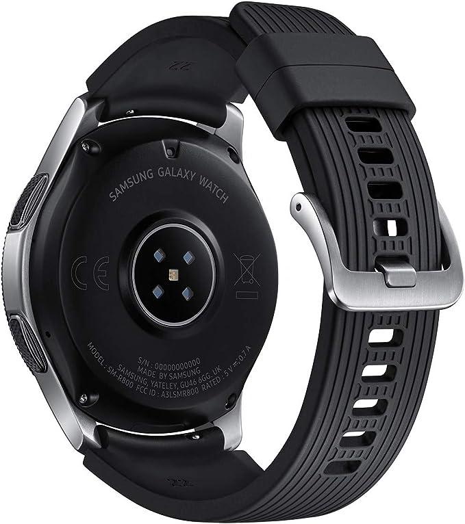 Samsung SM-R805UZSAXAR Galaxy Watch Smartwatch 46mm Stainless Steel LTE GSM (Unlocked), Silver