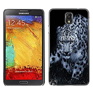 Plastic Shell Protective Case Cover || Samsung Galaxy Note 3 N9000 || Leopard Black White Animal Nature Hint @XPTECH