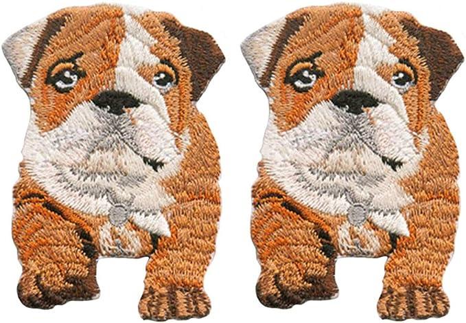 Custom Made 1.2 x 1 Inch Glue-On /& Iron-On Patch w Baby Puppy Pup Dog Friend Animal Cute Paw Print Doggie 1 of Sew-On Light Sky Blue
