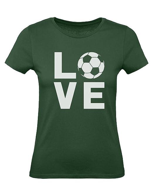 Green Turtle T-Shirts Camiseta para Mujer - - Love Soccer - Regalo Original para los Amantes del fútbol y futbolistas: Amazon.es: Ropa y accesorios