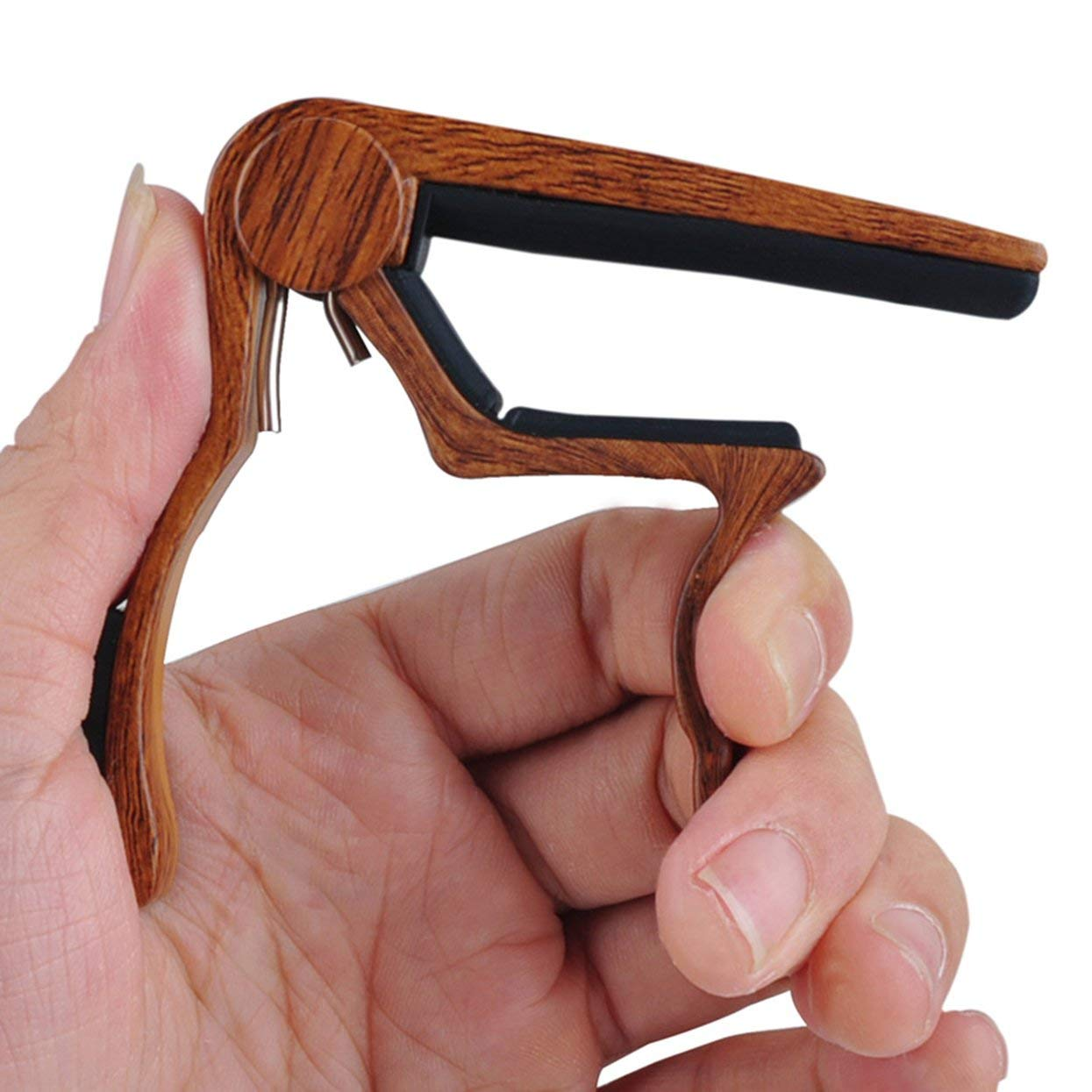 Tree-on-Life Portable Size Aluminum Alloy Quick Change Clamp Key Clip Acoustic Classic Electric Guitar Capo Tone Adjusting Tune Trigger