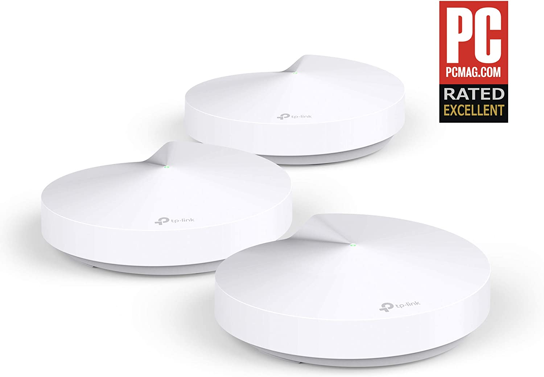 TP-Link Deco M5 (3-pack), Pack De 3 Sistemas Wifi Para Toda La Casa, USB Type-C, 3 Pack, Blanco