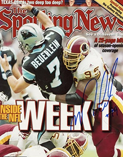 - Marco Coleman Signed Photo - SPORTING NEWS 8x10 W CO - Autographed NFL Photos