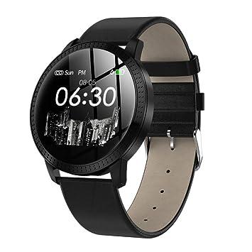 FJTYG Pantalla Redonda Moda Reloj Elegante Reloj Impermeable ...