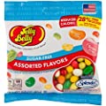 Jelly Belly Sugar Free Assorted Flavor Jelly Beans 2.8 oz Bag (3 Pack)