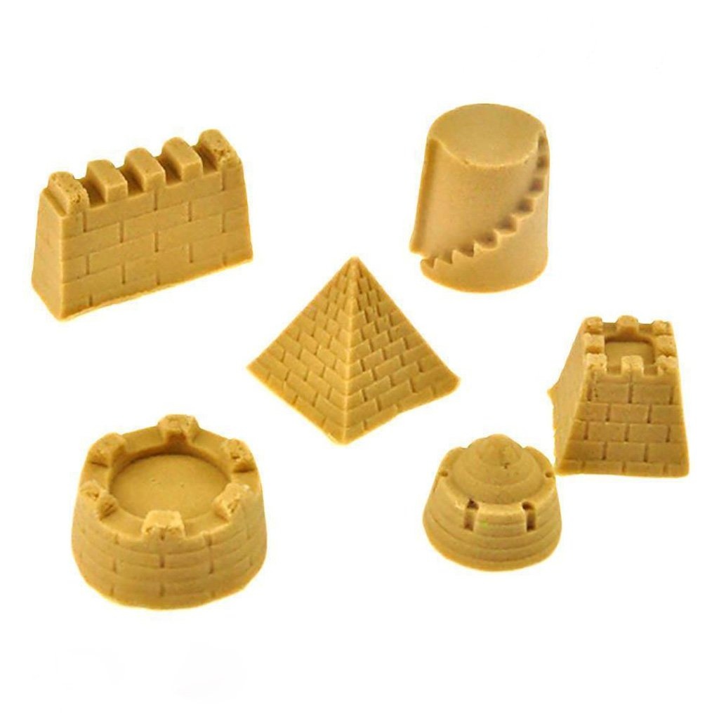 Dovewill Set of Kids Sand Clay Mold Castle Sand Art Building Pyramid Model Kids Beach Sand Fun Toys Gift