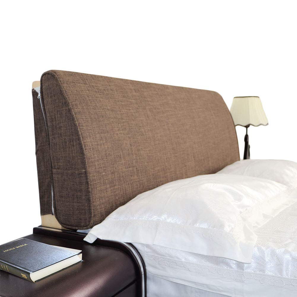 VERCART Large Filled Headboard Sponge Upholstery Bedside Backrest Support Wedge Reading Pillow Cushion with Removable and Washable Cover Coffee 78x4x19inch by VERCART