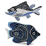 Sea Fish Figurine Decorative Standing Object 2 Piece Set, 1