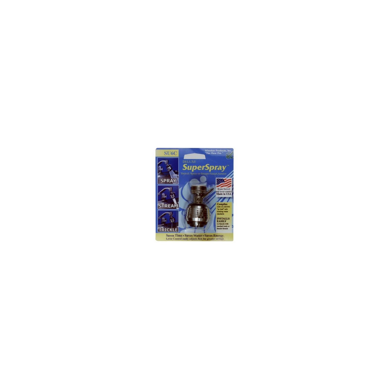 Whedon Products SU6C Deluxe Super Spray & Stream Swivel Aerator with Lever Control, Lead Free - Quantity 8
