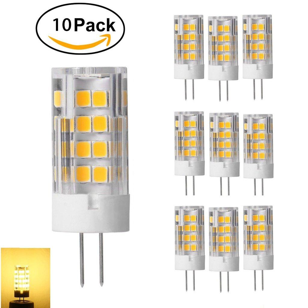 10-Pack G4 Bulb Lamp 51 SMD LED 5W Ceramic Lamp Lights G4 Lamp LED Lighting 350-380LM Warm White 2800-3200k 360 Degree Angle Viewing Lamp Energy Saving AC / DC12V