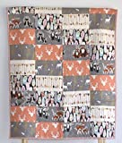 Woodland Quilt - deer, going stag, baby bedding, minky quilt