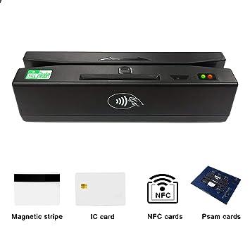 Amazon.com: zcs160 lector de tarjeta de crédito magnético 4 ...