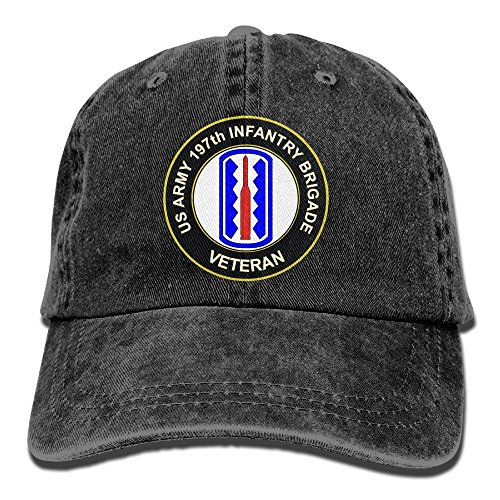 KERLANDER US Army 197th Infantry Brigade Veteran Adjustable Washed Twill Baseball Cap Dad Hat