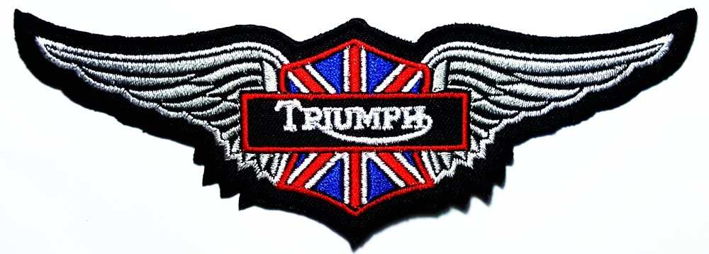 Triumph wing England Motorcycles Racing Vintage Racer Classic Biker Club logo patch Jacket T-shirt Sew Iron on Patch Badge Embroidery DreamHigh_skyland
