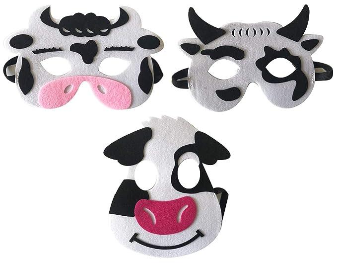 Amazon.com: Máscaras de fieltro de 3 piezas, para animales ...
